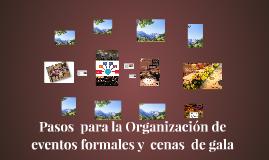 Pasos  para la Organización de eventos formales y  cenas  de