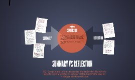 Summary vs Reflection