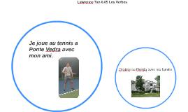 Je joue au tennis a Ponte Vedra avec mon ami.
