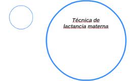Técnica de lactancia materna