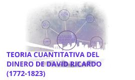 TEORIA  CUANTITATIVA   DEL DINERO   SEGUN  DAVID  RICARDO