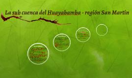 La sub cuenca del Huayabamba - región San Martín