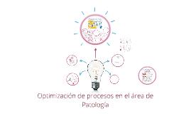 Optimización de procesos en el área de