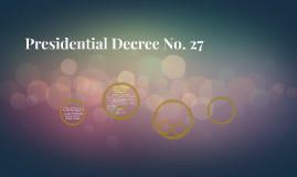 Presidential Decree No. 27