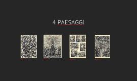 4 disegni di paesaggi