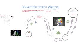 Copy of Pensamiento Crítico Analítico