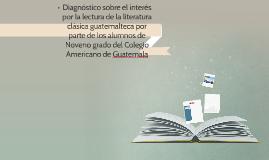 Diagnóstico sobre el interés por la lectura de la literatura
