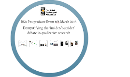 Demystifying the 'insider/outsider' debate in qualitative research