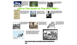 Life in the South in the mid 1800's