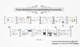 Copy of From absolutism to constitutional monarchy