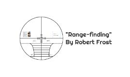 range finding robert frost