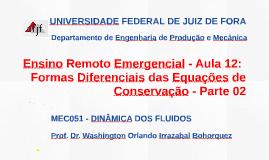 MEC051 - DINÂMICA DOS FLUIDOS - AULA 13