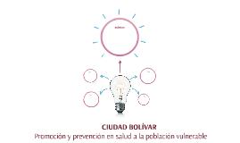 Promoción y Prevención en salud a la población vulnerable