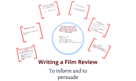 Copy of Writing a film review