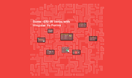 Some -ER/-IR Verbs with Irregular Yo Forms