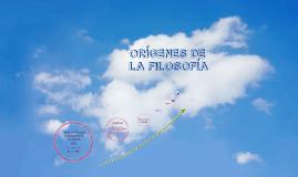 Copy of Linea del tiempo: Orígenes de la FILOSOFÍA