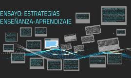 Copy of ENSAYO: ESTRATEGIAS ENSEÑANZA-APRENDIZAJE