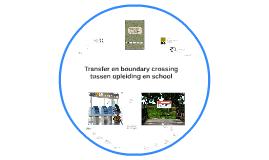 Transfer en boundary crossing tussen opleiding en school