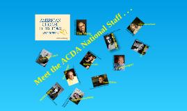 ACDA Staff 2012