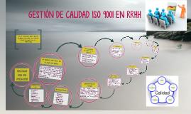 GESTIÓN DE CALIDAD ISO 9001 EN RRHH
