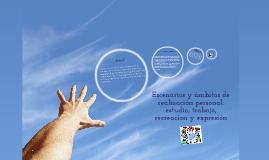 ESCENARIOS Y AMBITOS DE REALIZACIÓN PERSONAL: ESTUDIO, TRABAJO, RECREACIÓN Y EXPRESIÓN