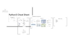 Copy of Python3 Cheat Sheet