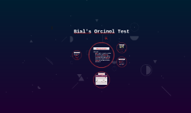 Bial's Orsinol Test