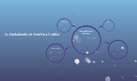 la ciudadanía en América Latina