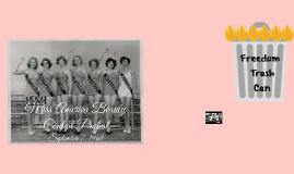 Miss America Beauty Contest- September 7, 1968