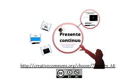 Copy of Presente continuo en Inglés