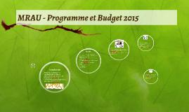 MRAU - Programme et Budget 2015
