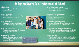 How to Be a Professional at School