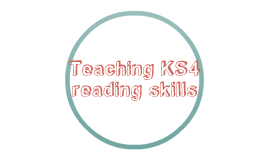 Teaching KS4 reading skills