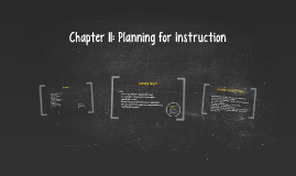 Chapter 11: Planning for Instruction