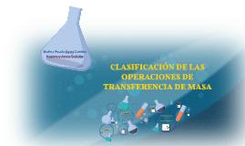 Copy of CLASIFICACIÓN DE LAS OPERACIONES DE TRANSFERENCIA DE MASA