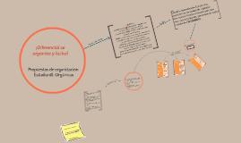 ¡Diferencial se organiza y Lucha!: Proceso de definición de orgánica.
