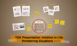 Copy of TOK Presentation: Intuition in Life-Threatening Situations