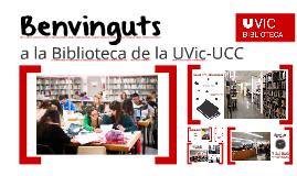 Benvinguts a la Biblioteca. Curs 2015-2016