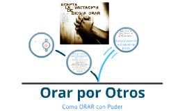 Orando por otros