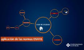 aplicación de las normas OSHAS