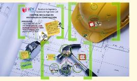 Copy of Control de calidad en materiales de construcción