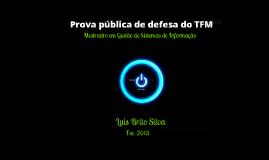 TFM - Prova pública defesa dissertação