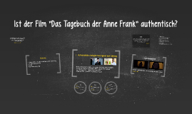 """Ist der Film """"Das Tagebuch der Anne Frank"""" authentisch?"""