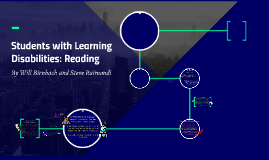 Students with Learning Disabilities: Reading