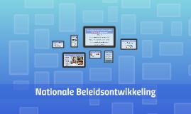 Nationale Beleidsontwikkeling