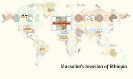 Mussolini's Invasion of Ethiopia