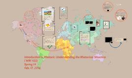 Introduction to Rhetoric: Understanding the Rhetorical Situa
