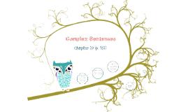 Complex Sentences (ENGL 100)