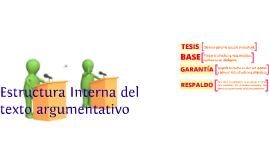 Copy of Copy of Estructura interna del texto argumentativo