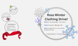 Ross Winter Clothing Drive